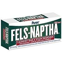 fels naptha 洗衣 Bar 和污清除剂,155.9gram 原味 Single Bar 5