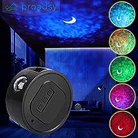 银河投影机,3D 语音控制月亮星云云云激光投影机,星星投影机夜灯儿童成人卧室天花板装饰黑色