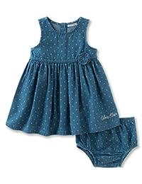 Calvin Klein 婴儿女童2件牛仔连衣裙 panty-belted