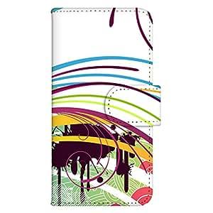 智能手机壳 手册式 对应全部机型 印刷手册 wn-078top 套 手册 流线效果 艺术 设计 艺术 美术 UV印刷 壳WN-PR054078-ML AQUOS SH-M02 图案 A