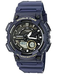 casio men's blue databank digital watch