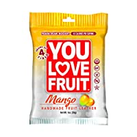 You Love Fruit Organic Fruit Leather, Mango, 1 Ounce (Pack of 12)