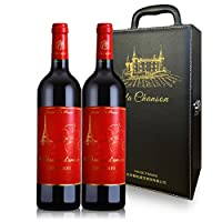 La Chanson d'Amour 乐颂挚爱 南法AOC/AOP级红酒 干红葡萄酒两支礼盒装 750ml*2(法国进口)