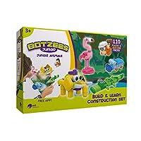 PAI TECHNOLOGY Botzees Junior 丛林包装组装套件 – 丛林动物玩具和建筑套件 带拼图,茎玩具,教育工程,3-8 岁男孩和女孩(基于应用程序)