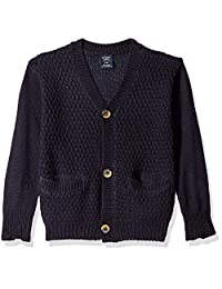 U.S. Polo Assn. 男童 Birdseye 针织开衫毛衣,