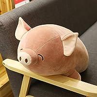 悠悠兔 羽绒棉屁桃趴猪小猪趴枕公仔 80厘米 棕色