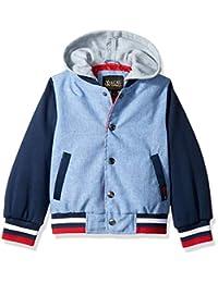 iXtreme 男孩棒球夹克,带羊毛帽