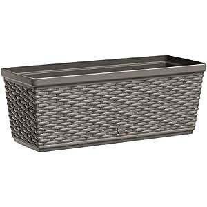 Emsa 阳台花盒,自动灌溉系统,Casa Mesh Länge 50 cm 灰色 517488