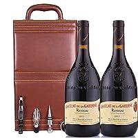 法国 罗纳河谷拉斯多产区 加迪内酒庄干红葡萄酒 750ml*2 双支礼盒装