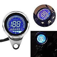 H-come 通用摩托车测距仪 LCD 数字速度计转速表带夜灯适合大多数流行的 12V 摩托车