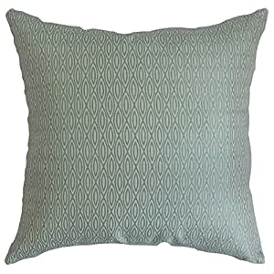 """The Pillow Collection Whitney 几何欧式枕套 蓝色 蓝色 European/26"""" x 26"""" EURO-D-71033-LANA"""