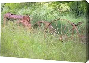 "PrintArt GW-POD-11-PSMHN-187-16x11""Old Tractor II""由 Kathy Mahan 创作画廊装裱艺术微喷油画艺术印刷品 24"" x 16"" GW-POD-11-PSMHN-187-24x16"