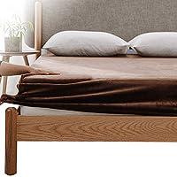 Kumori 床笠 单品销售 温暖 超细纤维 冬季用 柔滑 毛毯触感 床单 可洗 床垫/床垫/褥子适用 床单 床垫套 床罩 棕色 シングル・100X200cm -