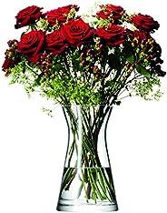 LSA 國際花卉混合花瓣花瓶,高 29.21 厘米,透明