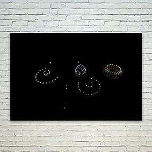 Westlake 艺术星空 - 海报印刷墙艺术 - 现代图片摄影家居装饰办公室生日礼物 - 无框英寸 Multi 19 12x18 in