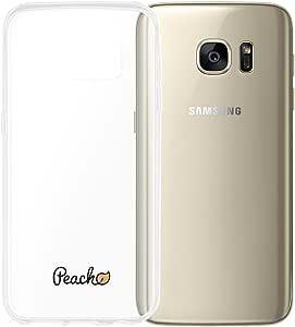 Peach 硅胶软保护套薄柔软硅胶凝胶 Transparent ultrafin Galaxy S7