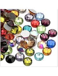 水晶 AB/Crystal 平背玻璃水钻胶固定装置 混合 ss10 (2.7mm) 1440 pcs 2088