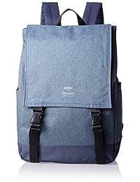 [anello] 黑色高密度涤纶纹理双肩背包 AT-H1151