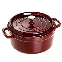 STAUB 圆形砂锅锅具 红色 22cm