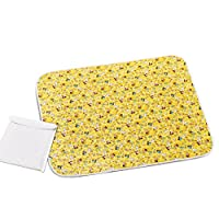 """Changing Pad - Diaper Change Pad Large Size (25.6""""x31.5"""") - Portable Waterproof Baby Changing Pad for Girls Boys - Multi-function Storage Bag for Travel Changing Mat"""