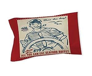 手工木工人和编织枕头套,国王,海洋日