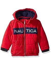 Nautica 男婴签名棉夹克,带防风袖口,