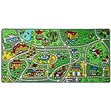 """Click N' Play 超大防滑城市生活儿童游戏毯,趣味,教育,适合游戏区,卧室-79"""" x 40"""""""