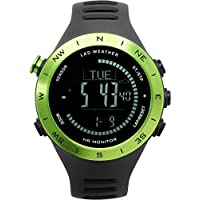 [LAD WEATHER] 多功能手表高度表/气压计/指南针/心率监视器/运动天气预测/户外/健身
