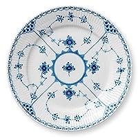 Royal Copenhagen 蓝色有凹槽 半花边 碗 白色 22cm 1017223