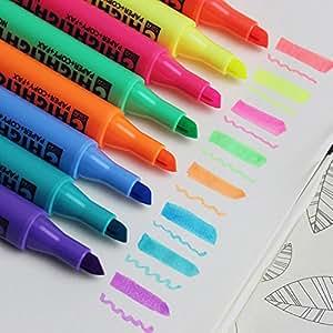 亮光笔 彩色凝胶亮光笔 各色各式各样的颜色 可爱 创意 圣诞礼物 办公用具 学生用具 儿童圣诞礼物 礼物 圣诞礼物 6 件装