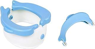 Ganen 可折叠便携式旅行马桶训练器 适合儿童 带 20 个一次性马桶垫 蓝色