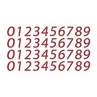 5.08 厘米乙烯基数字贴花大型酷邮箱工艺定制贴纸防水公寓标志、窗户、门、汽车、卡车、家庭、商务、地址号、室内和室外 | 红色