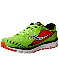 Saucony Boys Kinvara 5 - K 系带 Slime/Red 11.5 M US 儿童