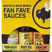 Buffalo Wild Wings Fan Fave Sauces-Parm 大蒜,蜂蜜烧烤,亚洲 Zing