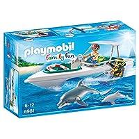 Playmobil 6981 带浮动快艇的家庭趣味潜水车