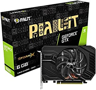 Palit GeForce GTX 1660 StormX 6 GB GDDR5 显卡,DisplayPort,HDMI,双链接 DVI-D