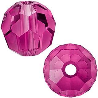 SWA2Rovski 圆形水晶珠耳环手镯脚链项链钥匙链吊坠首饰制作配件用品 紫红色 8mm