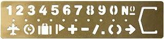 MIDORI 黄铜制 涂鸦模板式 书签 (数字图案)