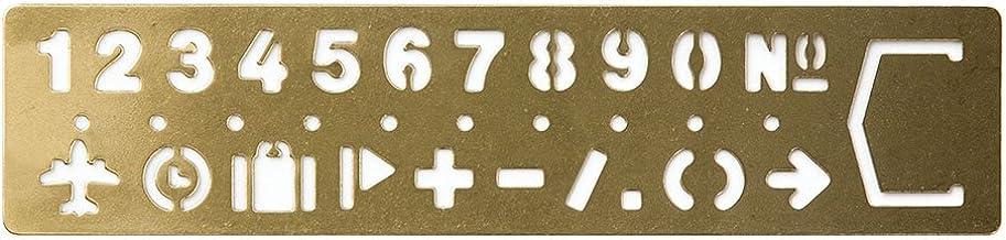 MIDORI 黃銅制 涂鴉模板式 書簽 (數字圖案)