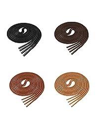 Lify Waxed 棉质超薄正装圆鞋带,适合正式鞋子,颜色:- 黑色、茶色、棕褐色和咖啡色