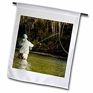 danita delimont–fishing–SPORT FLY fishing , bulkley RIVER , British columbia-cn02pcl0064–Paul colangelo–旗帜 12 x 18 inch Garden Flag