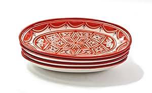LE Souk ceramique Nj15 陶瓷小号椭圆形盘子,4件套,Nejma