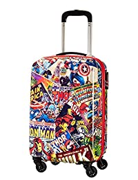 美国旅游者 - 美国旅游者 - 迪士尼漫威传奇 - Spinner 55/20 Alfatwist 2.0 儿童行李箱,55 cm,36 升,多色(Marvel 漫画)