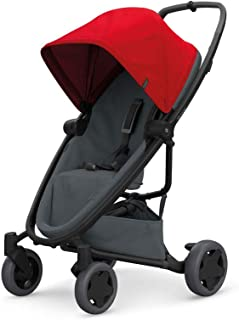 Quinny Zapp Flex Plus 婴儿车,时尚婴儿车,舒适灵活,轻便且非常紧凑,可折叠,适合出生时使用(例如带 Lux 婴儿床),不同款 颜色 red on graphite