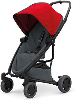 Quinny Zapp Flex Plus 嬰兒車,時尚嬰兒車,舒適靈活,輕便且非常緊湊,可折疊,適合出生時使用(例如帶 Lux 嬰兒床),不同款 顏色 red on graphite
