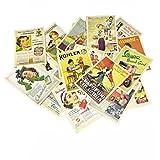 Yueton 32 件 1 套复古复古旧欧洲舞蹈旅行广告相册明信片贺卡用于收藏