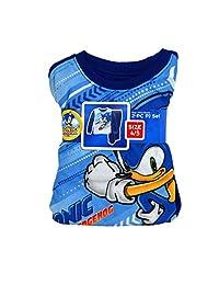 SEGA Sonic 刺猬 2 件套男童睡衣睡衣套装  蓝色 4-5