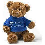 Gund I'm The Big Brother 毛绒熊玩具 蓝色,棕色 无尺寸