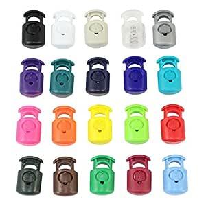 Primoloc 绳扣(10 毫米 x 7 毫米 x 20 毫米)- SGT 结 - 热塑性纹理皇冠绳塞 - 适用于衣服和包袋上的拉绳、捆绳和电缆整理袋(10 包 - 100 包 - 20 种颜色) 石灰绿 50 Pack SK-PCL-50-LimeGreen