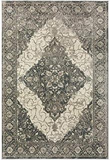 "Addison 地毯 AEM37 Emporium 法国农舍超细纤维地毯,3'3""x5'1"",灰色"